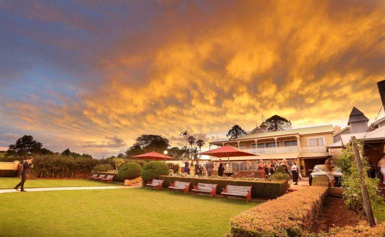 Sunset Wedding at Flaxton Gardens