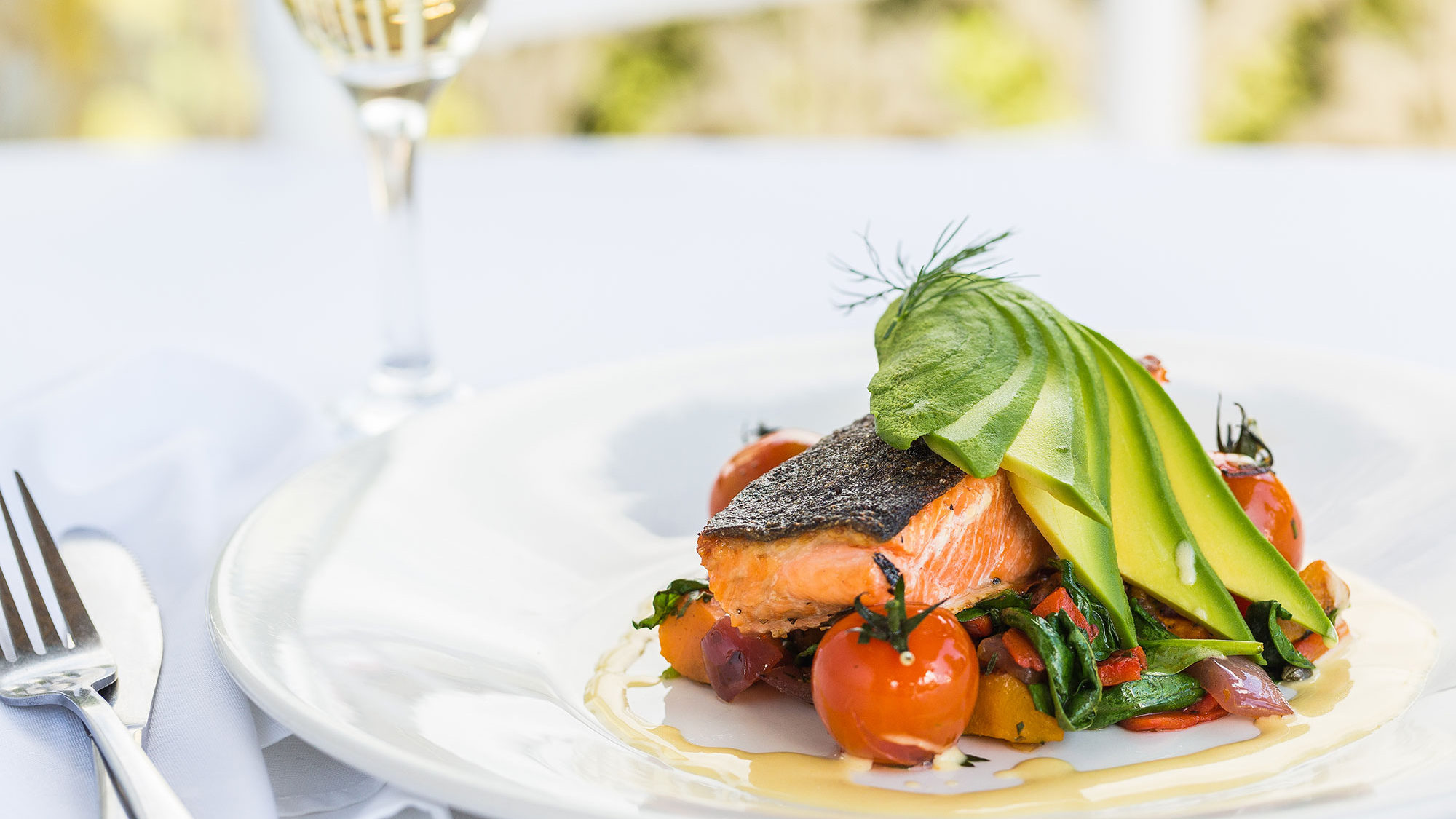 Salmon Avocado Main at Flaxton Gardens