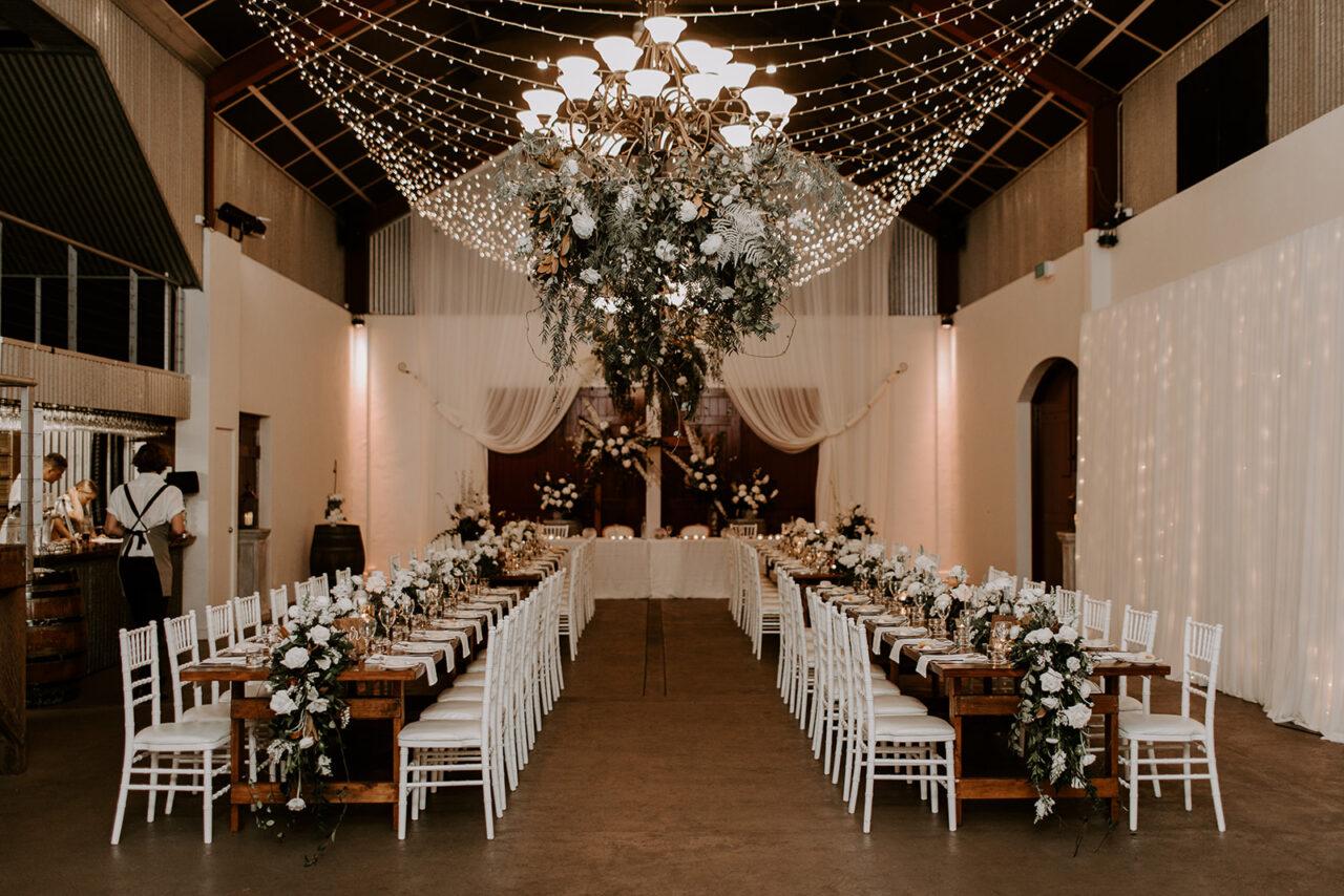 Rustic Elegant Sunshine Coast Wedding Reception at Flaxton Gardens