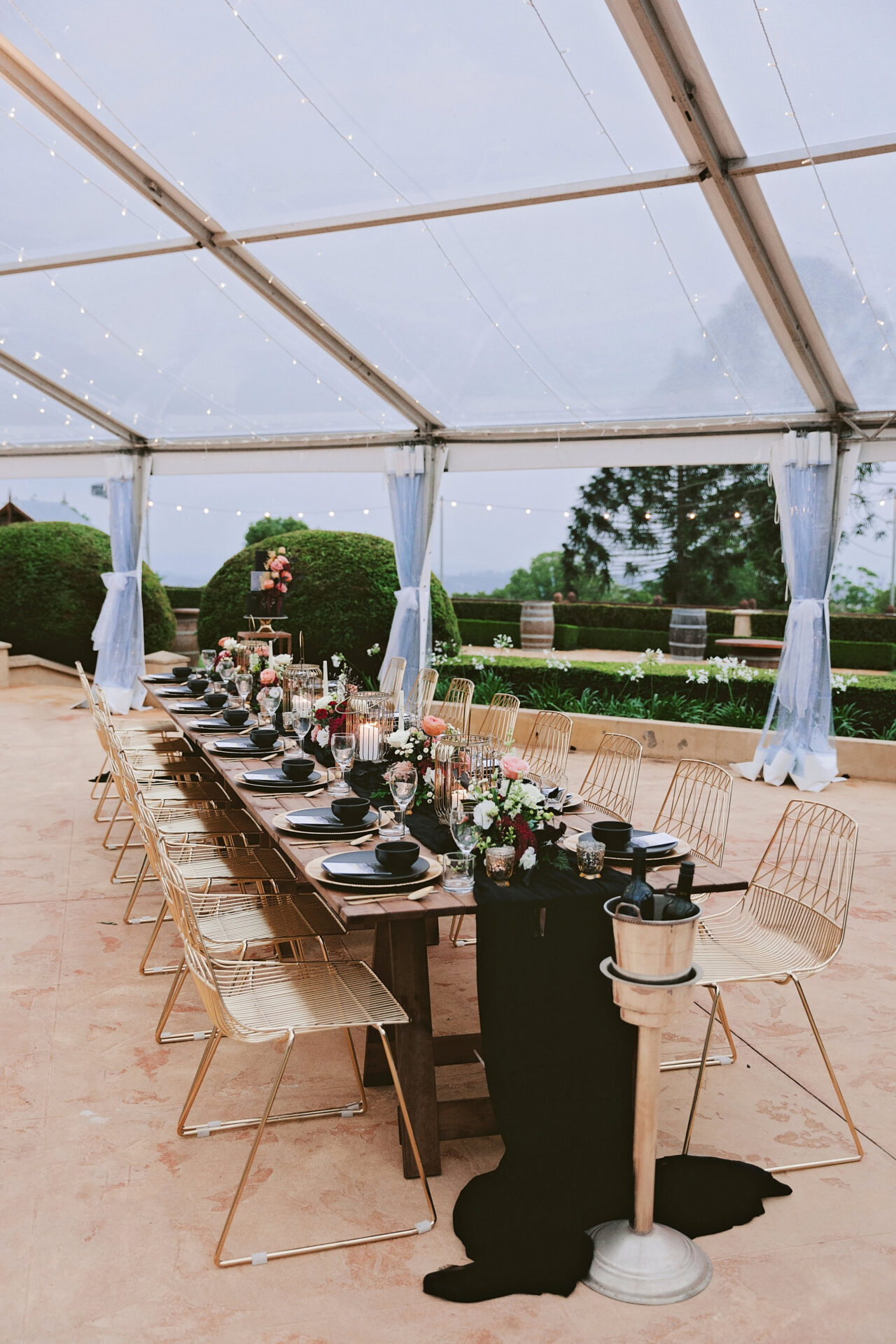 Enchanted Dining Under the stars Flaxton Gardens marqueewedding