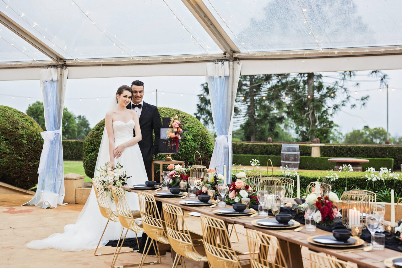 Enchanted Dining Under the stars Flaxton Gardens wedding