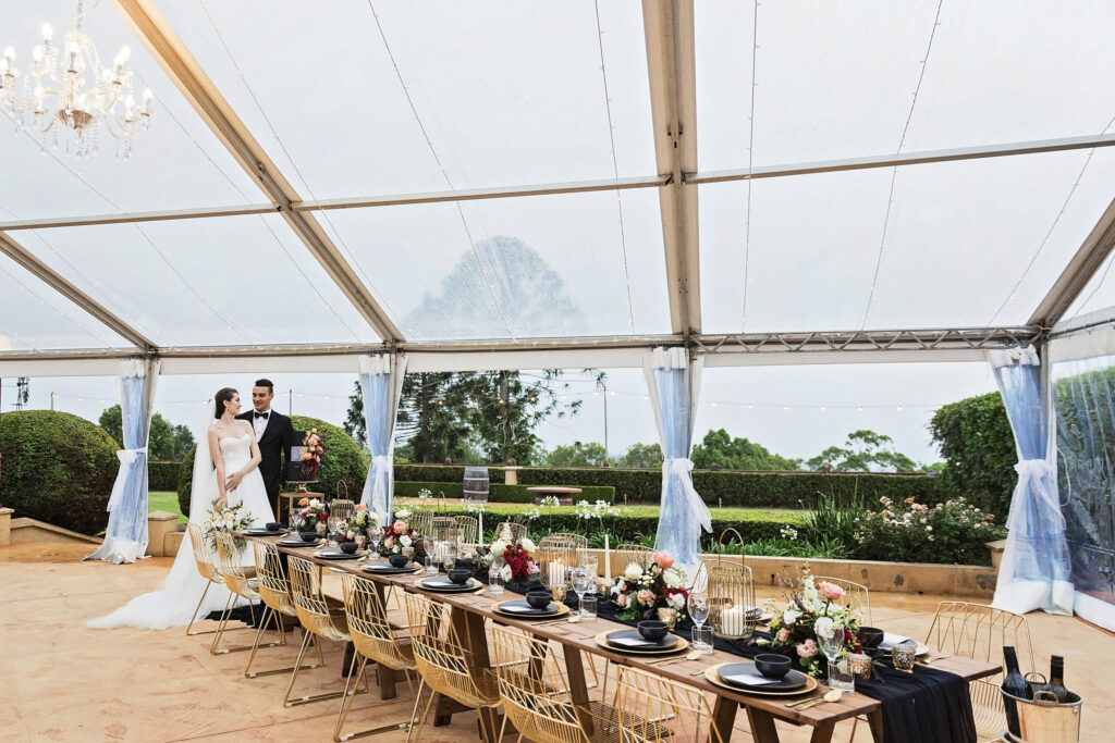 Enchanted Dining Under the Stars- Flaxton Gardens Marquee Wedding