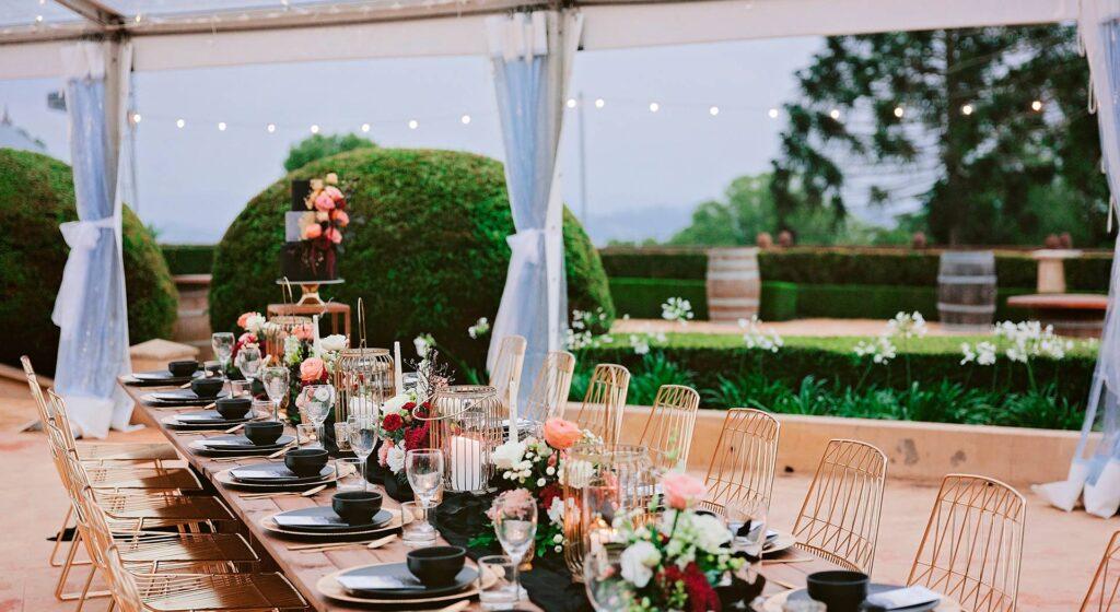 Marquee Wedding Setting Flaxton Gardens